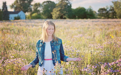 Hannah's Senior Session in the Wildflowers | Geneva, IL