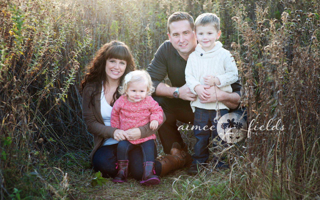 S Family Sunwashed at Sunset | St. Charles, IL